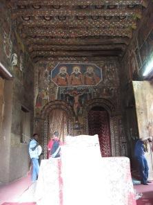 Interior de la Iglesia de Debre Berhan Selassie
