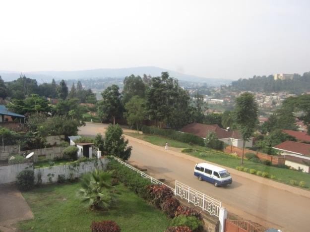 Vistas desde la ventana de mi cuarto en Kigali